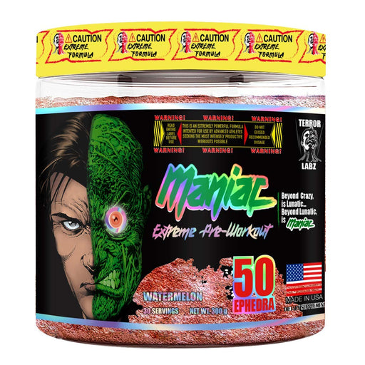 Terror Labz Maniac, Extreme Pre-Workout (30 Serving)