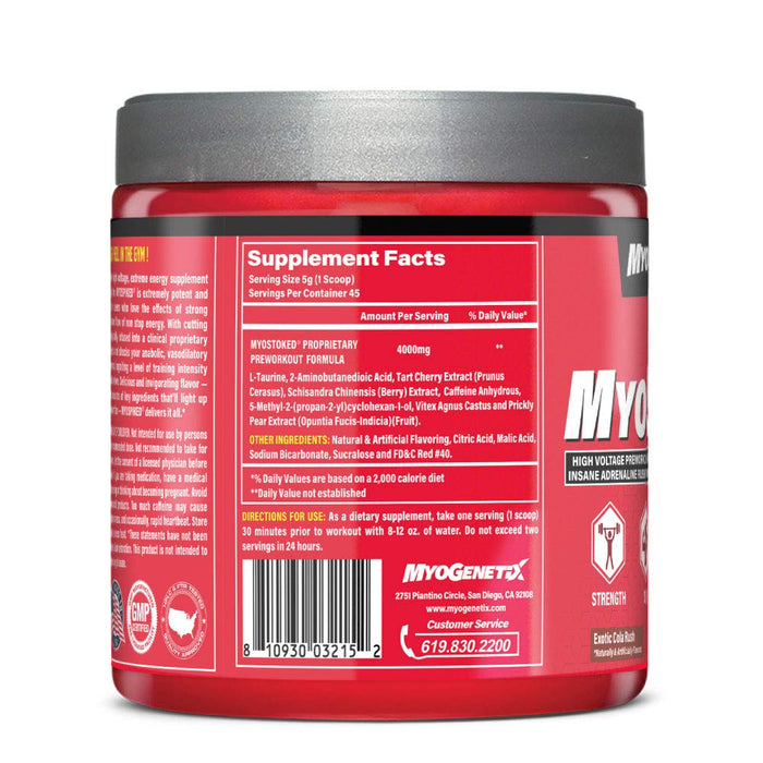 Myogenetix Myo Spiked HSP90 Exotic Cola Rush Flavour, 7.9 Oz, 45 Servings