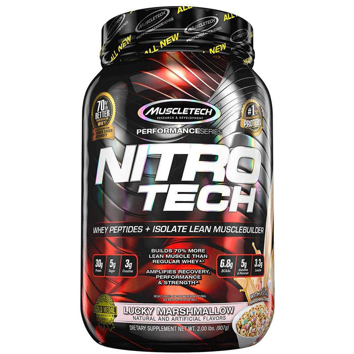 Muscletech Performance Series Nitrotech Whey Protein Peptides & Isolate (2LBS)
