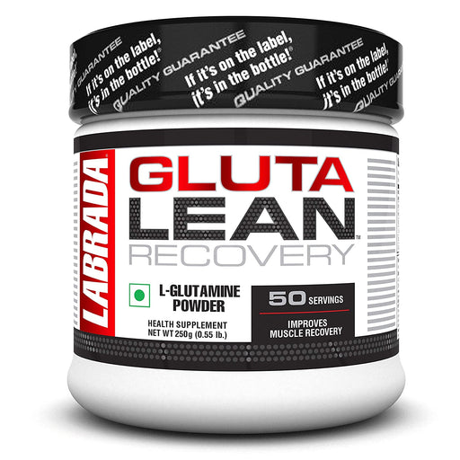 Labrada GlutaLean (Vegan, Non GMO, Allergen Free, Muscle Recovery, Healthy Immune Function, 5g L-Glutamine, 50 Servings) - 0.55 lbs (250 g)