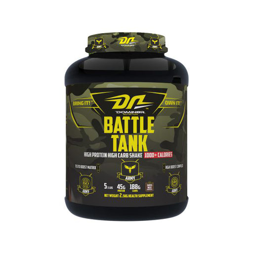 DOMIN8R  Nutrition  Battle tank, 5.5 Lbs, Net Wt 2.5 Kg
