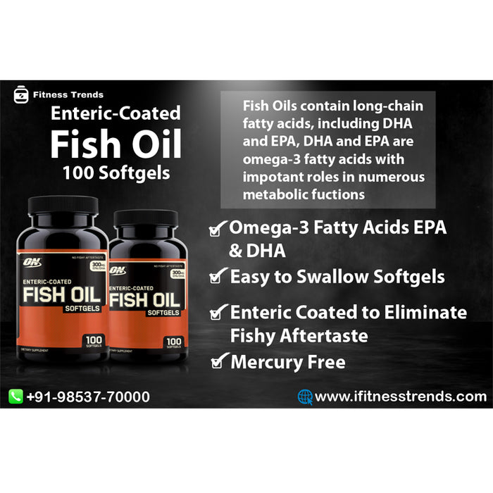 Optimum Nutrition (ON) Enteric-Coated Fish Oil