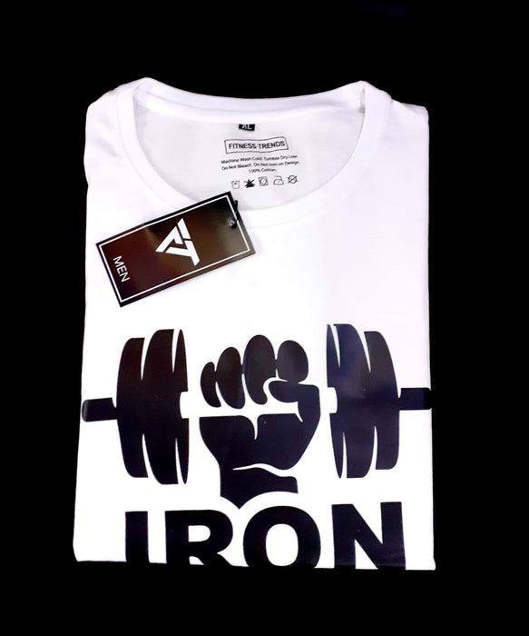 Iron Never Lies To You Round Neck Gym Tee
