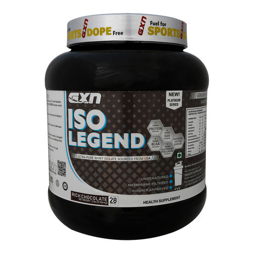 GXN ISO Legend Isolate Whey Protein, Net Wt: 2Lbs (0.906 Kg), Serving 28