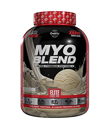 Elite Labs USA - MyoBlend Ultra Premium Protein Smooth, Serving 39g, Net Wt :4.4Lbs (2.000g)
