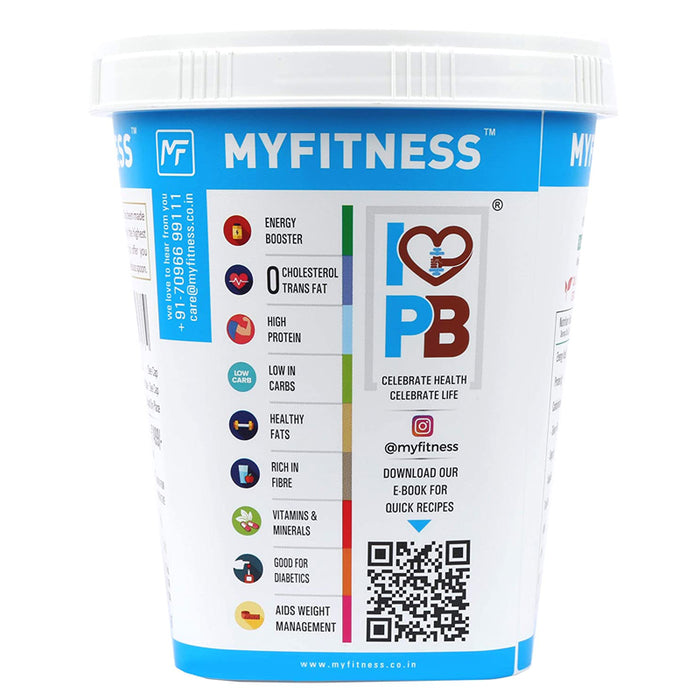 MYFITNESS Gold Natural Peanut Butter 1Kg (Unsweetened)