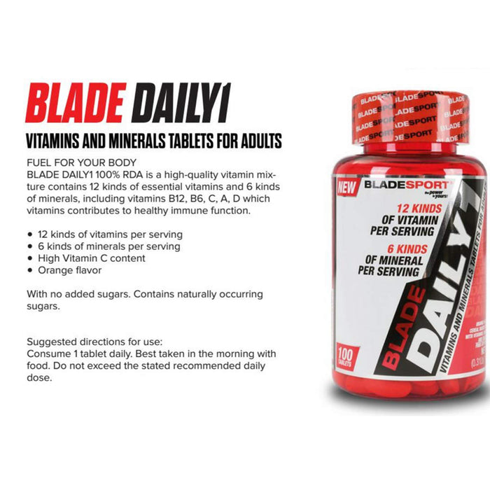 BLADESPORT BLADE DAILY 1 (100 Tablets) 100 Serving