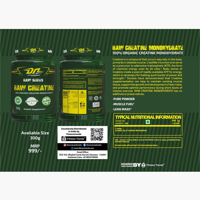 DOMIN8R-RAW CREATINE 300 gm