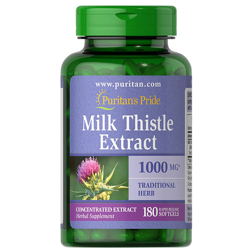 Puritan's Pride 4: 1 Milk Thistle Extract 1000mg (Silymarin)