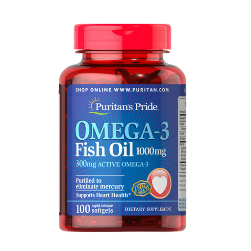 Puritan's Pride Omega-3 Fish Oil 1000 mg (300 mg Active Omega-3)