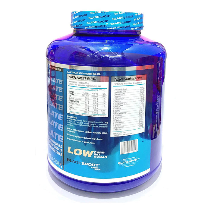 BLADESPORT Blade Isolate 100% Whey Protein Isolate (Chocolate, 2 kg / 4.4 Lb)