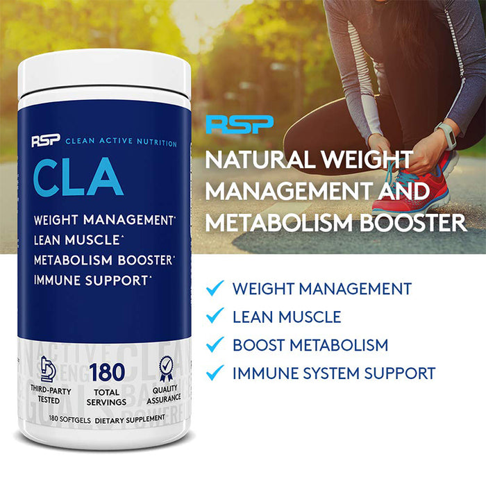 RSP Nutrition CLA Stimulant Free Weight Loss Supplement - 180 Softgels