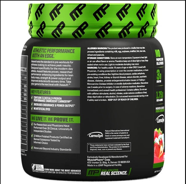 Muscle Pharm Assault Pre Workout 30 Servings