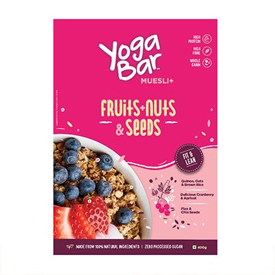 Muesli+ Yoga Bar, Dark Chocolate+ Cranberry, Net Wt.400g