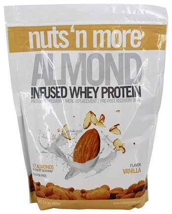 Nuts 'n' More Infused Almond Whey Protein - fitness trends