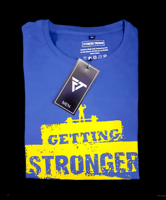 Getting Stronger Each Day Round Neck Gym Tee
