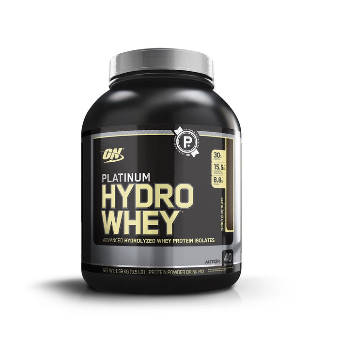 Optimum Nutrition (ON) Platinum Hydro Whey Protein Isolate - 3.5 lbs, 1.59 kg (Turbo Chocolate) - fitness trends