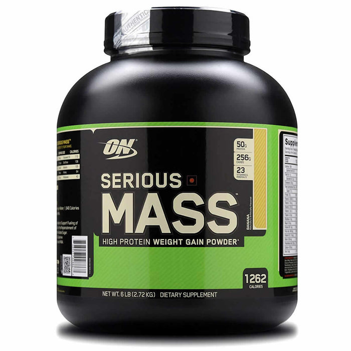 Optimum Nutrition (ON) Serious Mass Weight Gainer Powder - 6 lbs, 2.72 kg