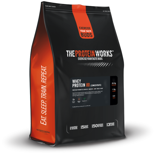 The Protein Works - WHEY PROTEIN 80 (concentrate) 1Kg - fitness trends