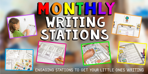 Monthly Writing Stations