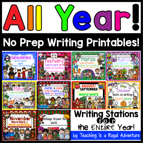 Monthly Writing Stations for the Entire Year – THE BUNDLE