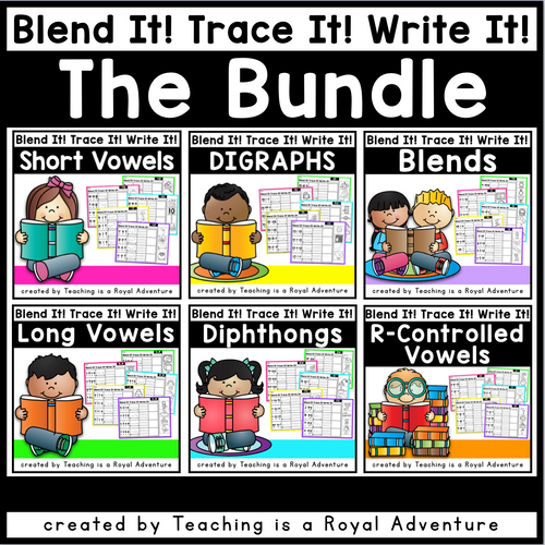 BLEND IT! TRACE IT! WRITE IT! Bundle - T.I.A.R.A.
