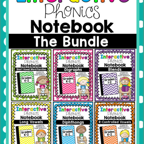 Phonics-Based Interactive Notebook: The Bundle T.I.A.R.A.