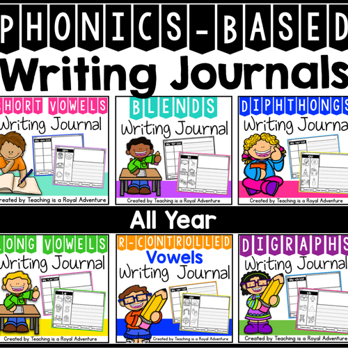 Phonics-Based Writing Journal Prompts: The Bundle (ALL YEAR)