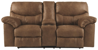 Bark Boxberg Reclining Loveseat with Console