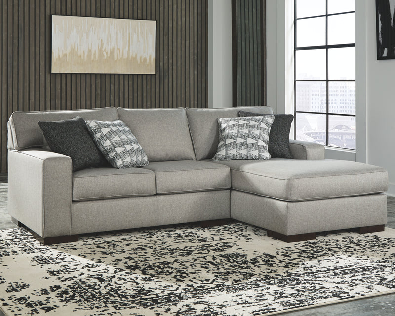 Slate Marsing Nuvella 2-Piece Sectional with Chaise