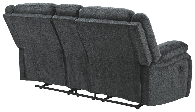 Slate Draycoll Reclining Loveseat with Console
