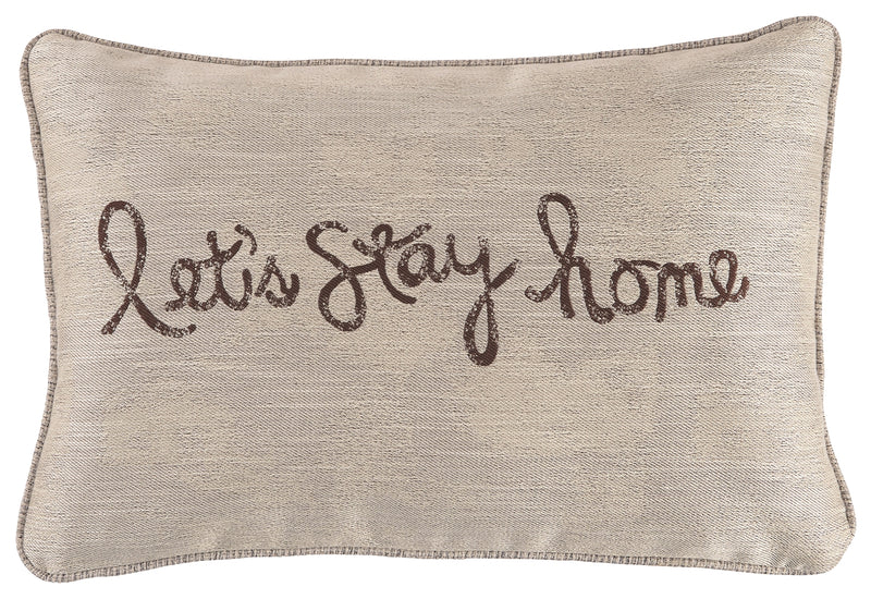 Chocolate Lets Stay Home Pillow