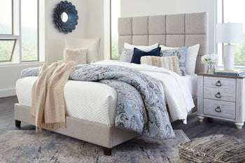 Beige Dolante Queen Upholstered Bed