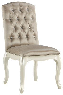Silver Cassimore Upholstered Chair