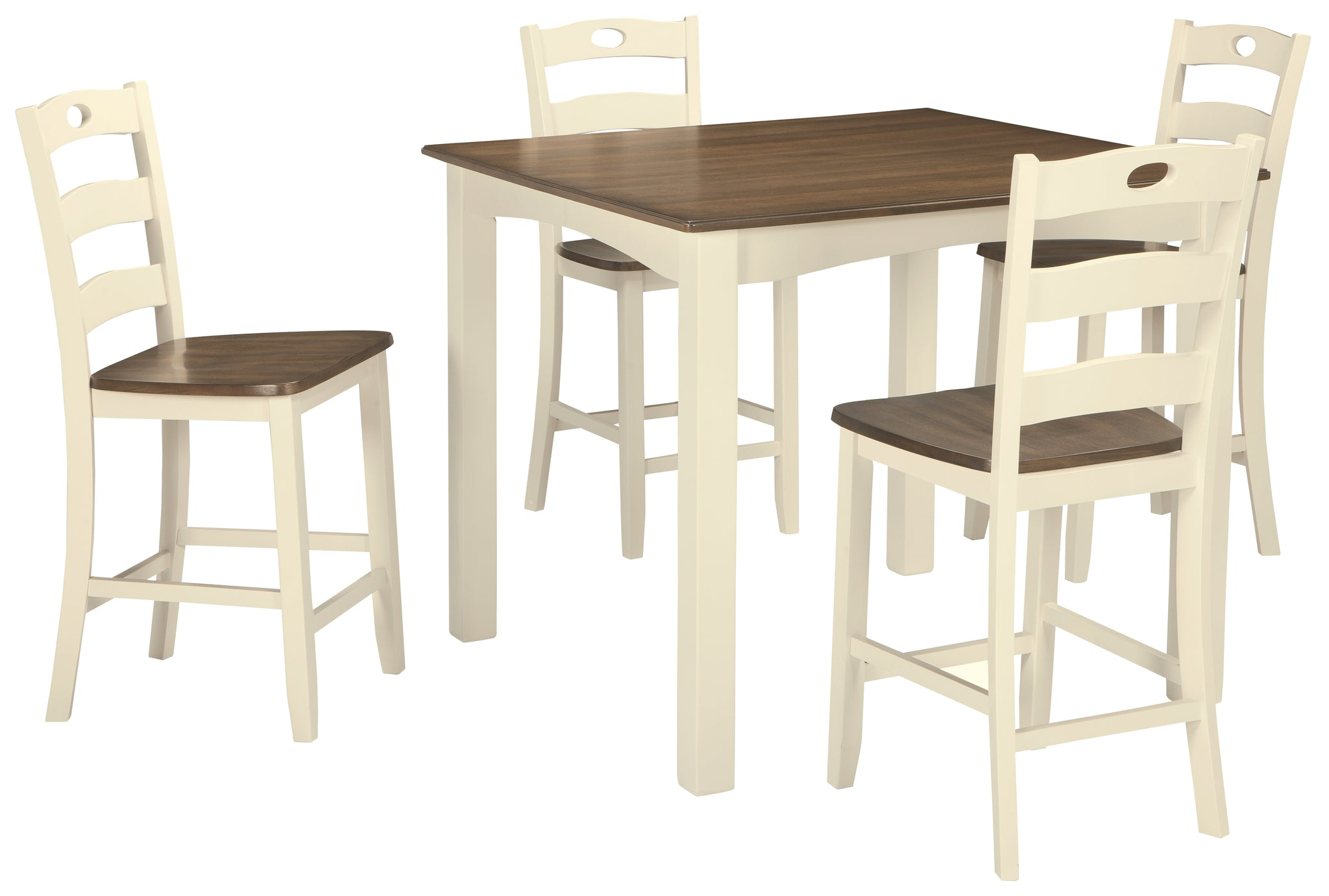 Woodanville Counter Height Dining Room Table And Bar Stools Set Of