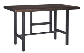 Kavara Medium Brown RECT Dining Room Counter Table