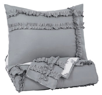 Gray/White Meghdad 2-Piece Twin Comforter Set