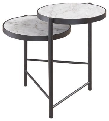 Black/White Plannore End Table