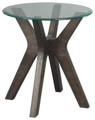 Grayish Brown Zannory End Table