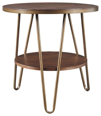 Brown Lettori End Table