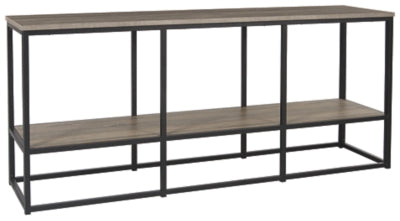 "Brown/Black Wadeworth 65"" TV Stand"