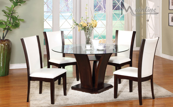 Enclave White Table & 4 Chairs