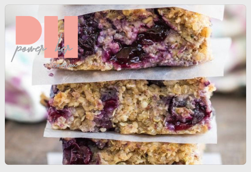 Blueberry Quinoa Breakfast Bars