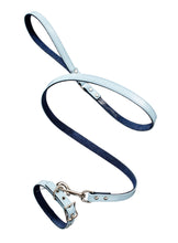 Linda Rodin Linda and Winks Love Blue Skies leash and collar set for dogs