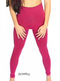 "Women's Fuchsia Butt Scrunch Leggings with a Booty Shaping Effect.""FITS LIKE A GLOVE COLLECTION"""
