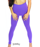 "Women's Purple Butt Scrunch Leggings with a Booty Shaping Effect.""FITS LIKE A GLOVE COLLECTION"""