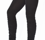 Women's Black Butt Scrunch Leggings with a Booty Shaping Effect, Scrunch on legs