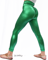Women's Light Green Butt Scrunch Leggings with a Booty Shaping Effect. OUTER SPACE COLLECTION