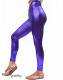 Women's Purple Butt Scrunch Leggings with a Booty Shaping Effect. OUTER SPACE COLLECTION