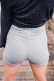 "Women's Gray Butt Scrunch Shorts with a Booty Shaping Effect  ""FITS LIKE A GLOVE COLLECTION"""